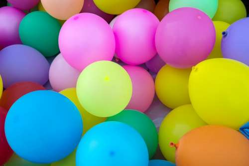 Balloons Colors Party Celebration Birthday