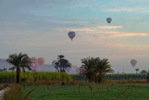 Balloons Sky Colorful Air Landscape