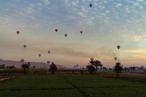 Balloons Sky Flying Transport