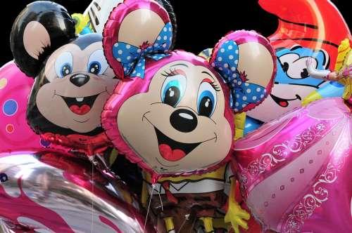 Balloons Disney Disneyland Colorful Children Fun