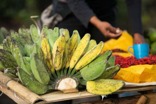 Bananas Fruit Exotica Healthy Tasty Nutrition