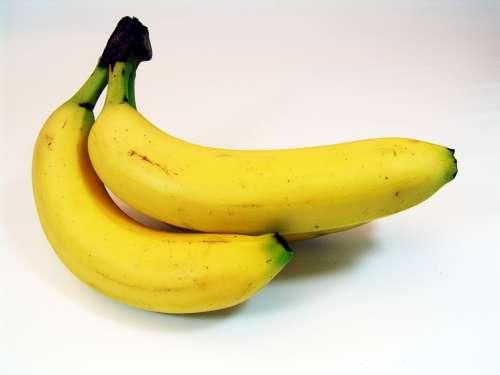 Bananas Fruit Banana Shrub Yellow Food Healthy