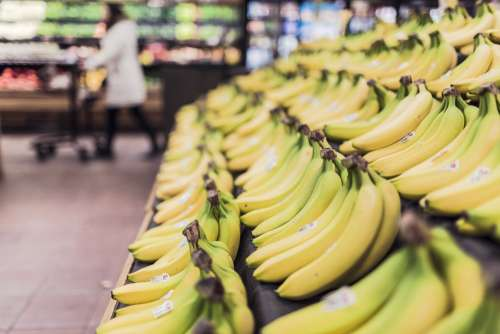 Bananas Fruits Food Grocery Store Supermarket
