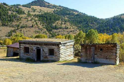 Bannack Jail Montana Usa Bannack Ghost Town