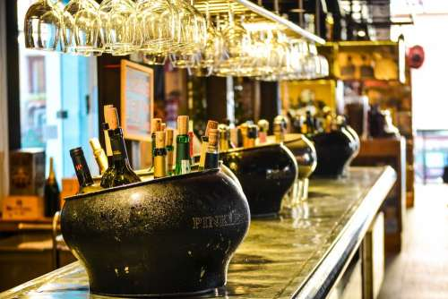 Bar Pub Tavern Bottles Restaurant Alcohol Glasses