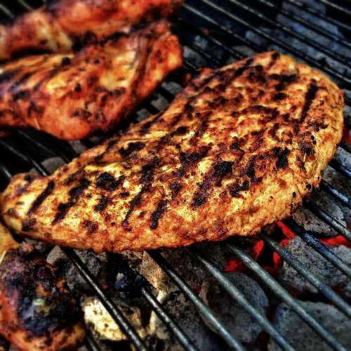 Barbecue Meat Grill Flame Bbq Charcoal Food