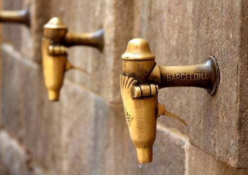 Barcelona Water Tap Thirst Brass