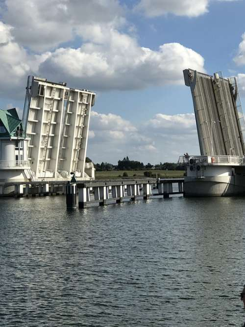 Bascule Bridge Schlei Transport System Bridge Water
