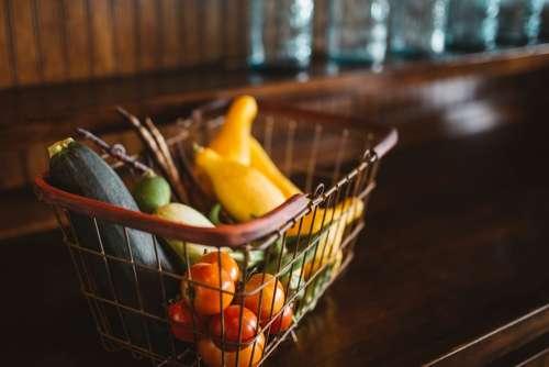 Basket Vegetables Food Fresh Organic Healthy
