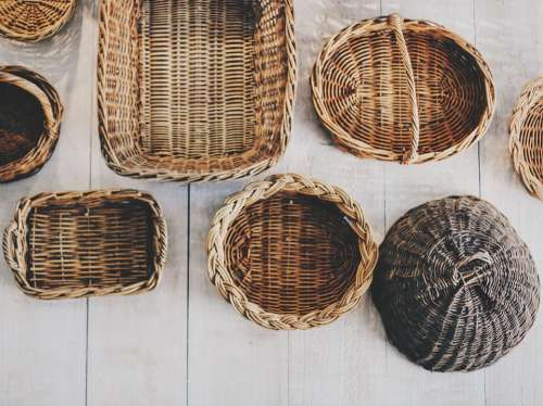 Baskets Picnic Basket Wicker Containers Carry