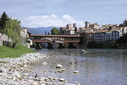 Bassano Del Grappa Bridge Of Bassano Del Grappa Italy