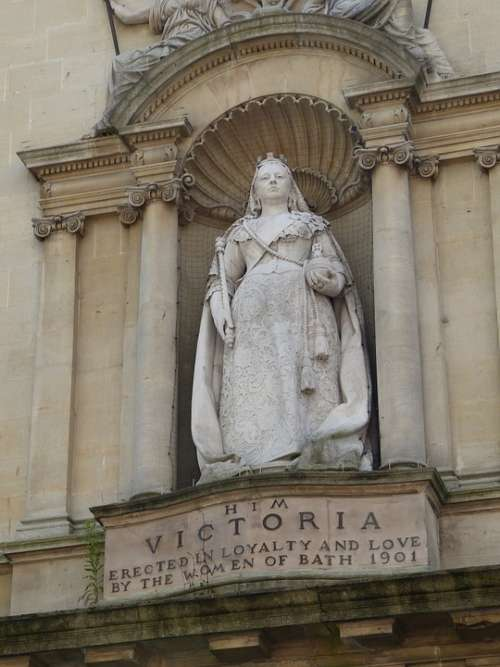 Bath England Historically Monument Queen Victoria
