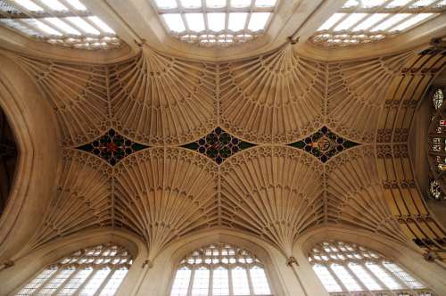 Bath Abbey Church Ceiling Anglican England