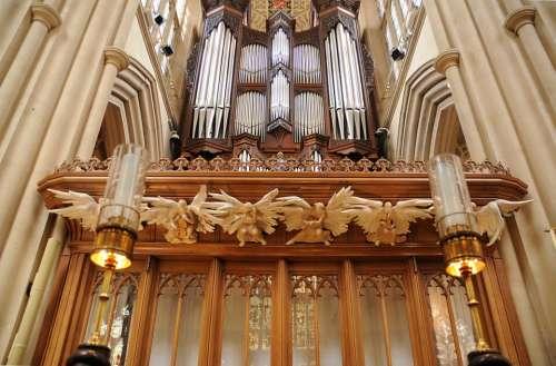 Bath Abbey Organ Church England Anglican