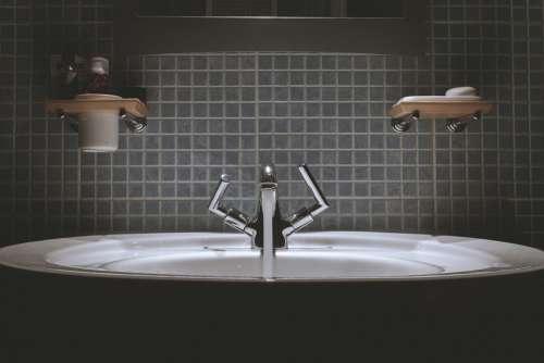 Bathroom Sink Faucet Tap Water Backsplash Tiles