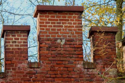 Battlements Brick Architecture Building Stone Old