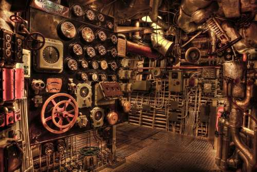 Battleship Engine Room Historic War Navy History