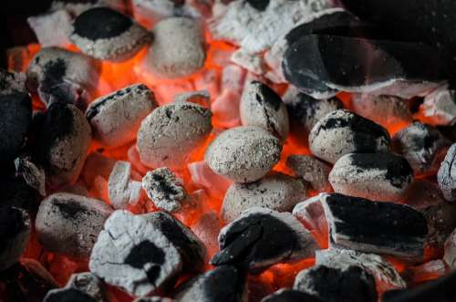 Bbq Barbecue Coal Flame Grill Barbeque Braai