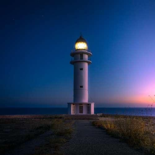Beach Lighthouse Coast Light Ocean Sea Seashore