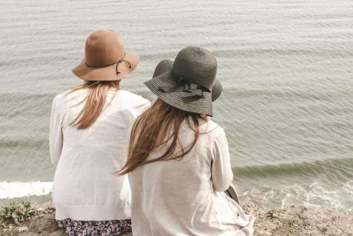 Beach Hats Ocean Outdoors People Sand Sea