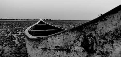 Beach Boat Blackandwhite Seashore Sailboat