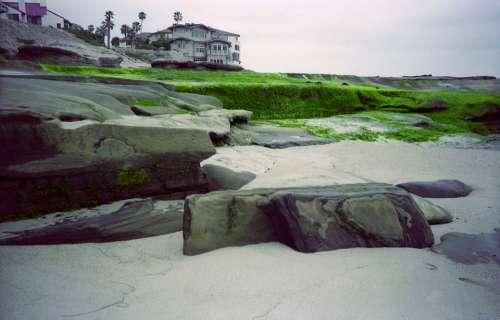 Beach Rocks Ocean Coast Nature Seascape