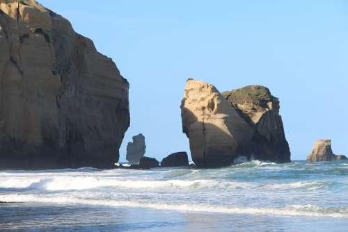 Beach Rocks Sea Water Coast Nature Landscape