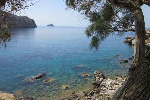Beach Sea Holiday Seascape Landscape Greece