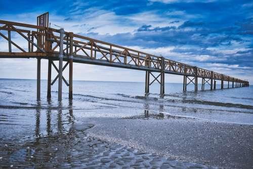 Beach Sea Sand Sky Blue