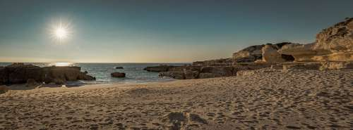 Beach Sunset Sea Ocean Water Dusk Sky Dawn