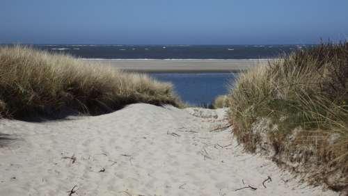 Beach Sea Dunes Sand Road Sand