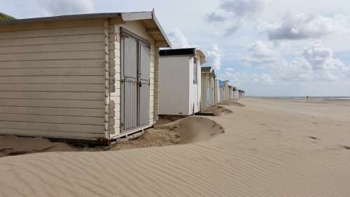 Beach Cottages Water Leisure Coast Sea Waters