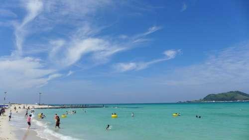 Beach Summer Sea Republic Of Korea Korea