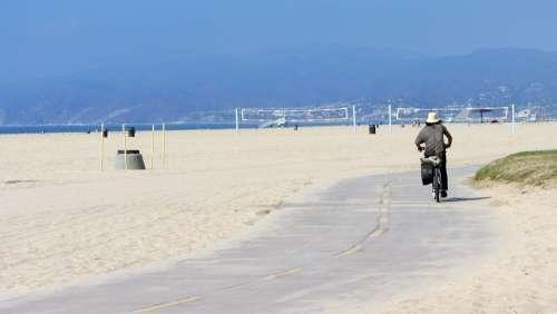 Beach Bicycle County Venice Beach California Sand
