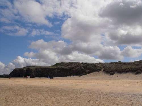 Beach Coastline Sand Scenic Relax Cloud