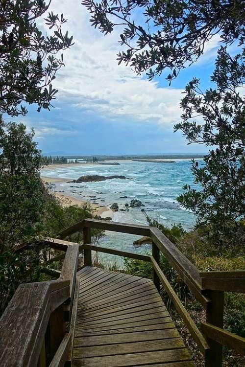 Beach Vista Scenic Coastal Seascape View Coast