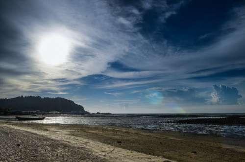 Beach Day Sun Sky Sunlight Landscape Cloud
