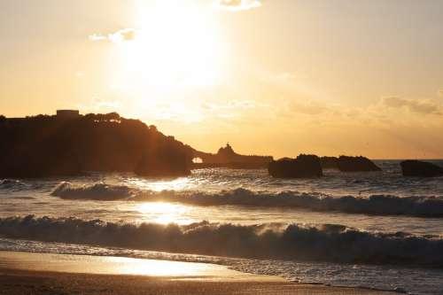 Beach Sea Sand Horizon Sun Renécros France