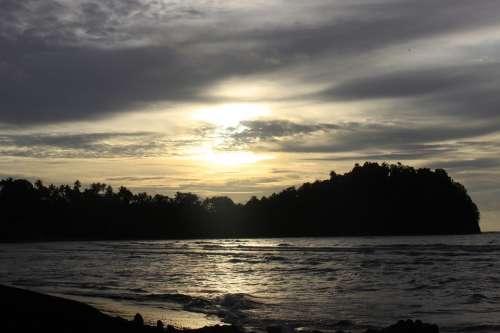 Beach Nature Sunset Sea Inspirational Water