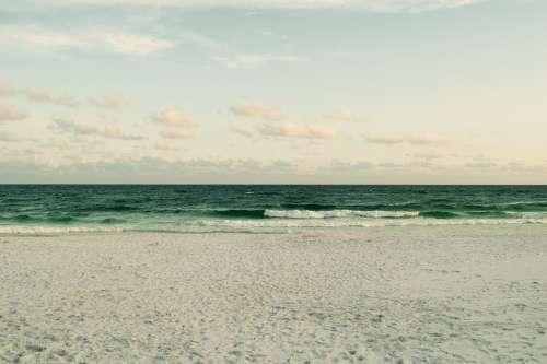Beach Sand Ocean Water Sea Nature Horizon Sky