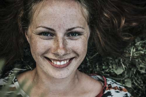 Beautiful Freckles Girl Model Person Portrait
