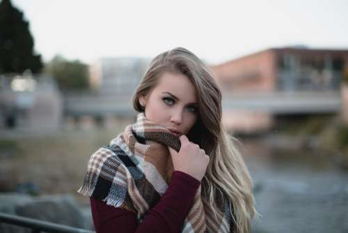 Beautiful Woman Cold Fashion Female Girl Model