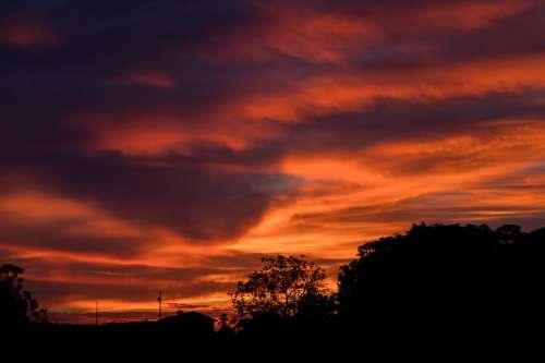 Beauty Evening Night Sky Sunset Scenic Dusk