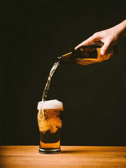 Beer Pouring Glass Drink Alcohol Bar Pub