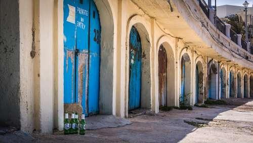 Beer Bottle Garage Door Blue Malta Burgibba