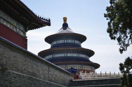 Beijing The Temple Of Heaven Building