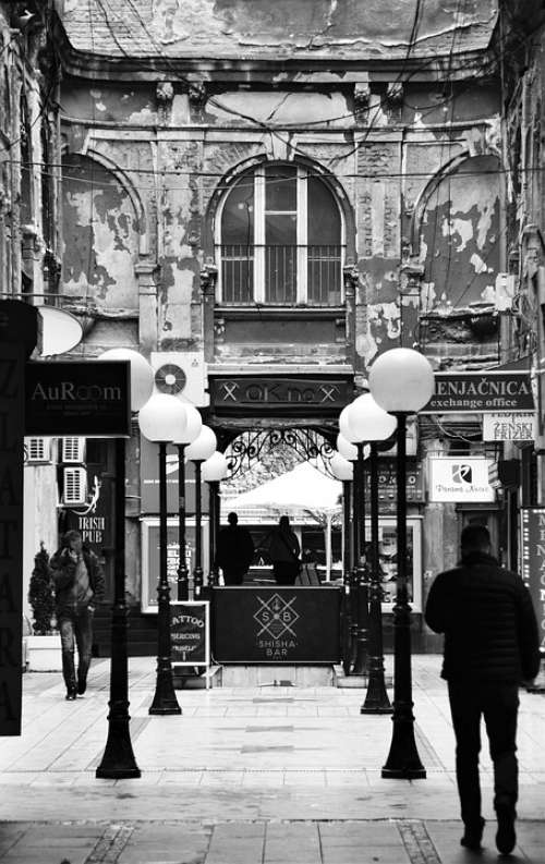 Belgrade Downtown Courtyard Cityscape European