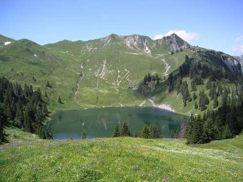 Bergsee Oberland Switzerland Alpine Mountain Lake