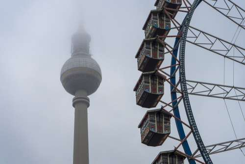 Berlin Tv Tower Ferris Wheel Berlin Christmas Market