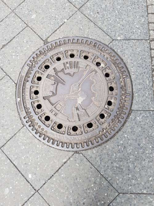 Berlin Street Art Manhole Cover Europe Symbol